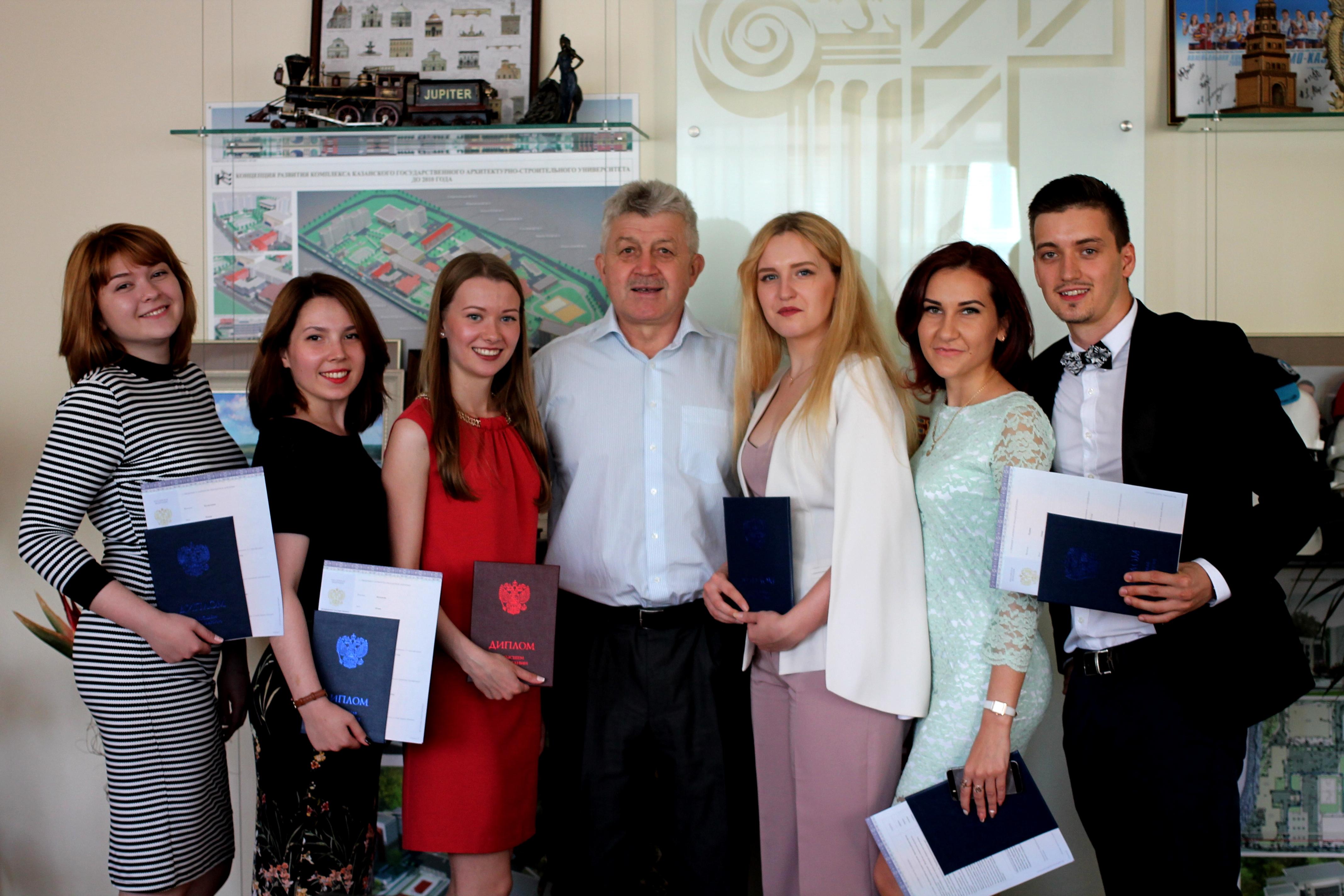 КГАСУ состоялось торжественное вручение дипломов выпускникам  В КГАСУ состоялось торжественное вручение дипломов выпускникам профиля Проектирование зданий